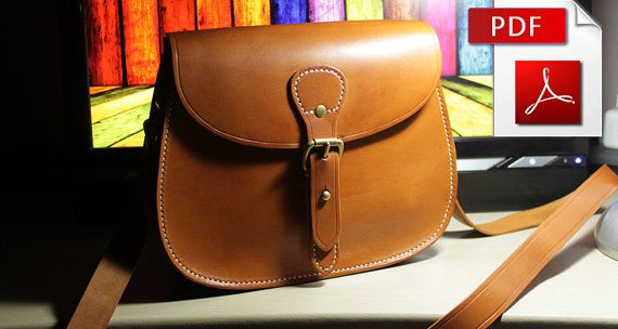 Leather bag pattern with tutorial Leather pattern Bag instructions ...