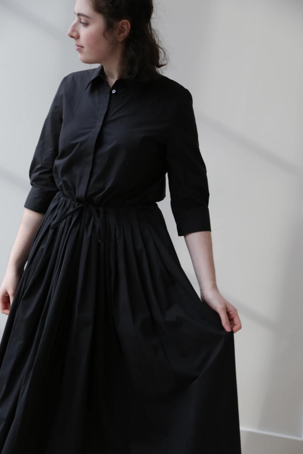 Rennes Sara Lanzi Chemisier Dress In Black Dresses Fashion Victorian Dress [ 1499 x 1000 Pixel ]