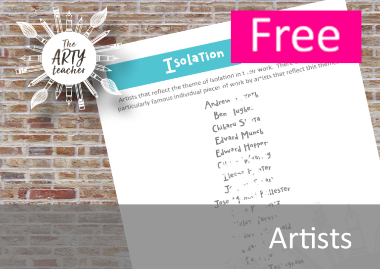 Free List of Isolation Artists to use in the Art Classroom ...