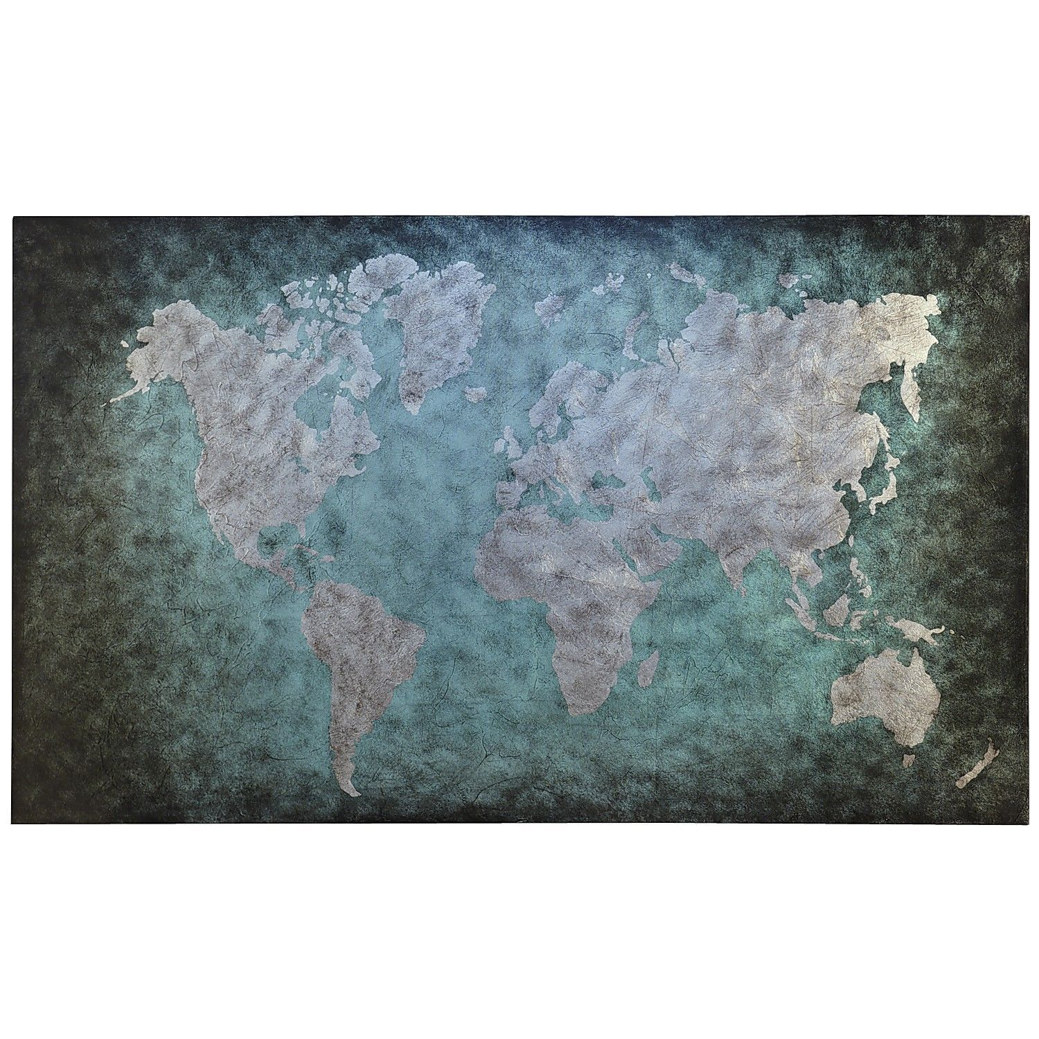 Houston Map Framed%0A World Map Art  Teal