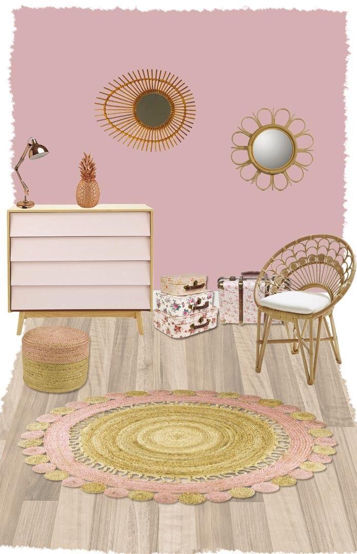 Tapis rond en jute pour chambre d\'enfant Anusha Nattiot | Chambre ...
