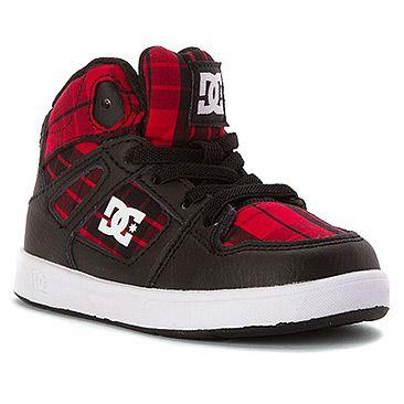 DC Shoes Kids' Rebound SE Elastic High Top Sneaker Toddler | Boys' - Black