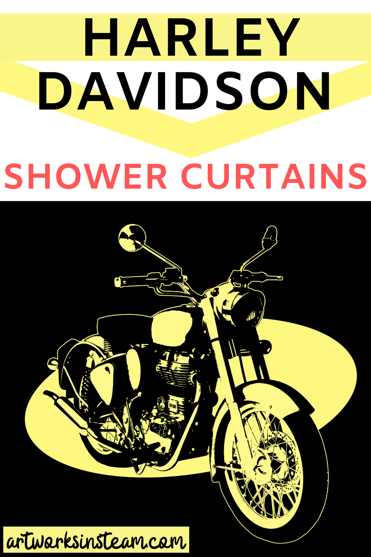 Harley Davidson Motorcyle Shower Curtain Shower Curtain Harley Davidson Pink Shower Curtains [ 1500 x 1000 Pixel ]