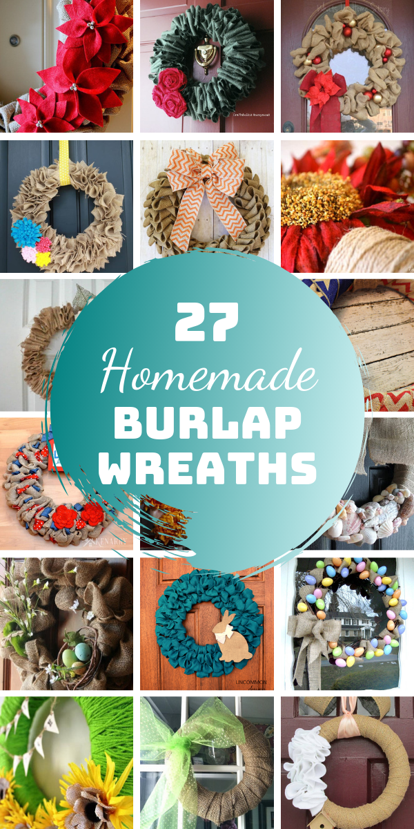 Photo of 27 DIY Burlap Wreaths for all Seasons and Holidays