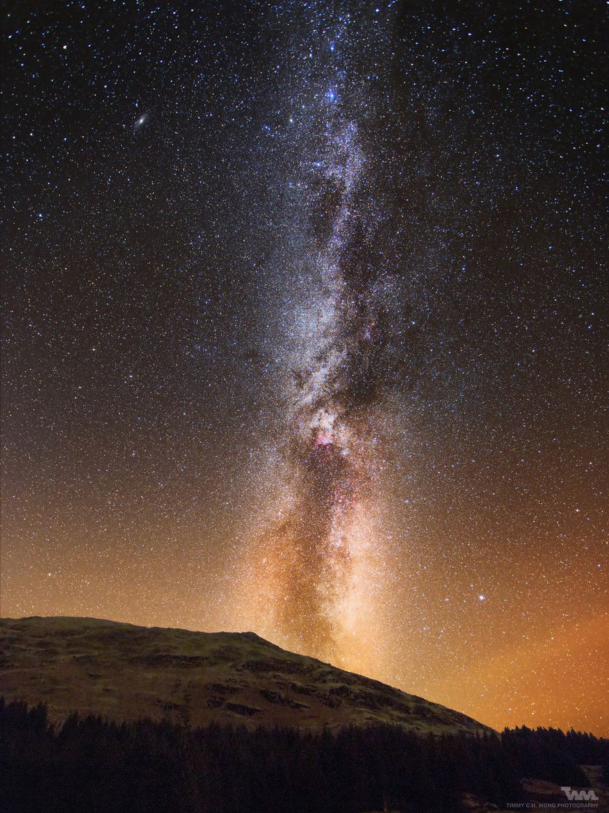 Photograph Autumn Milkyway at Galloway Forest Park by ...