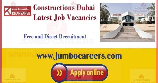 Khansaheb Constructions Dubai Latest Job Vacancies