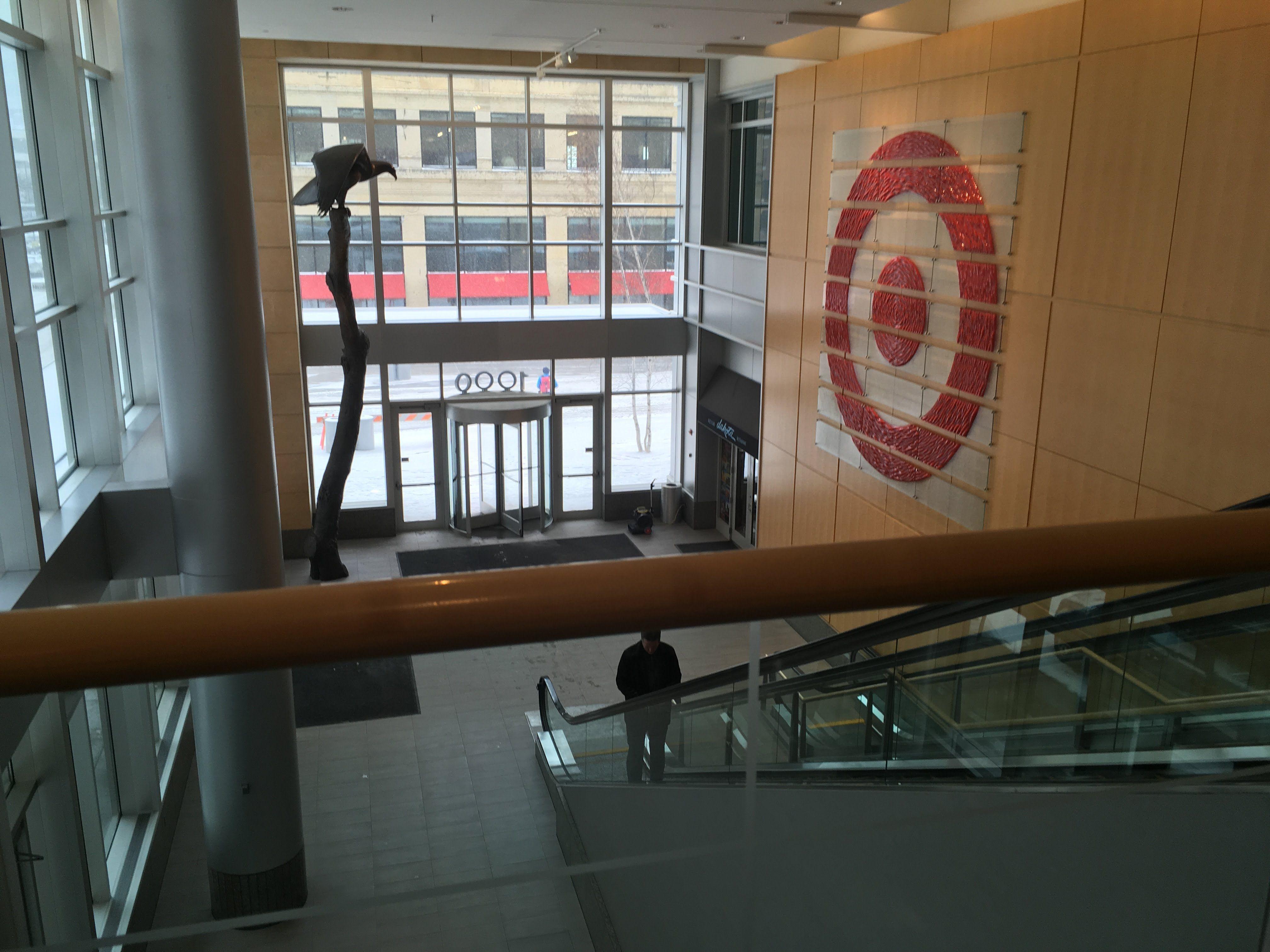 Escalator Going Down To Target Hq And The Dakota Thedakota