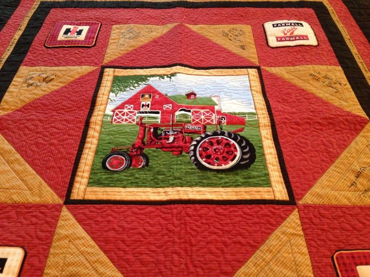 International Harvester Quilt Tractor Quilt Farm Quilt Barn Quilts