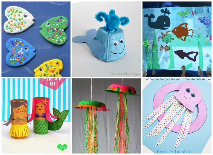27 Ocean Crafts For Kids | Animal crafts, Craft and Ocean crafts