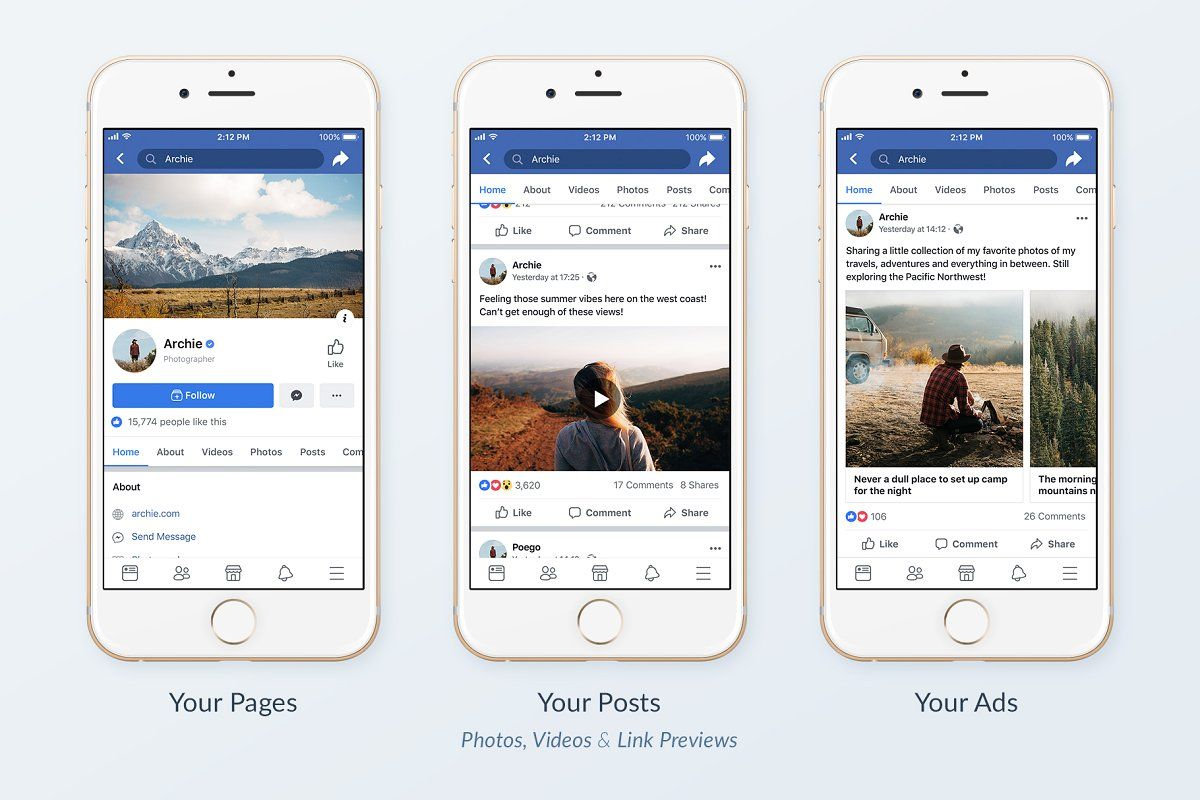 Facebook Social Media Template Pack Social Media Template Social Media Mockup Facebook Templates
