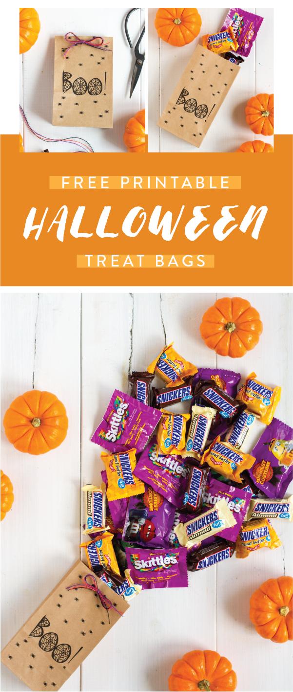 free printable halloween treat bags | halloween treats | pinterest