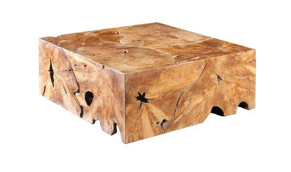 Slice Solid Wood Block Coffee Table Coffee Table Square Coffee Table Coffee Table Wood