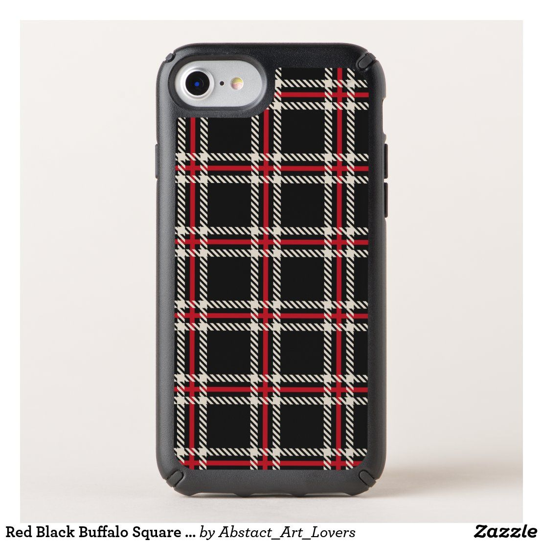 Red Black Buffalo Square Plaid Pattern Speck iPhone Case