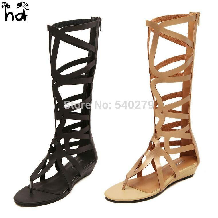 HD Plus size 40 Gladiator Sandals Women Flip Flops Summer