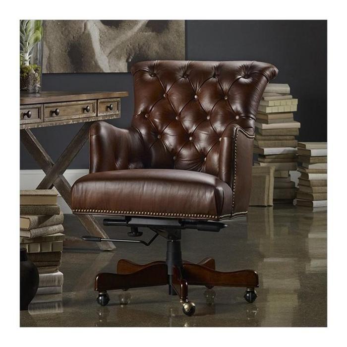 Seven Seas Tufted Executive Chair In Brown Nebraska Furniture