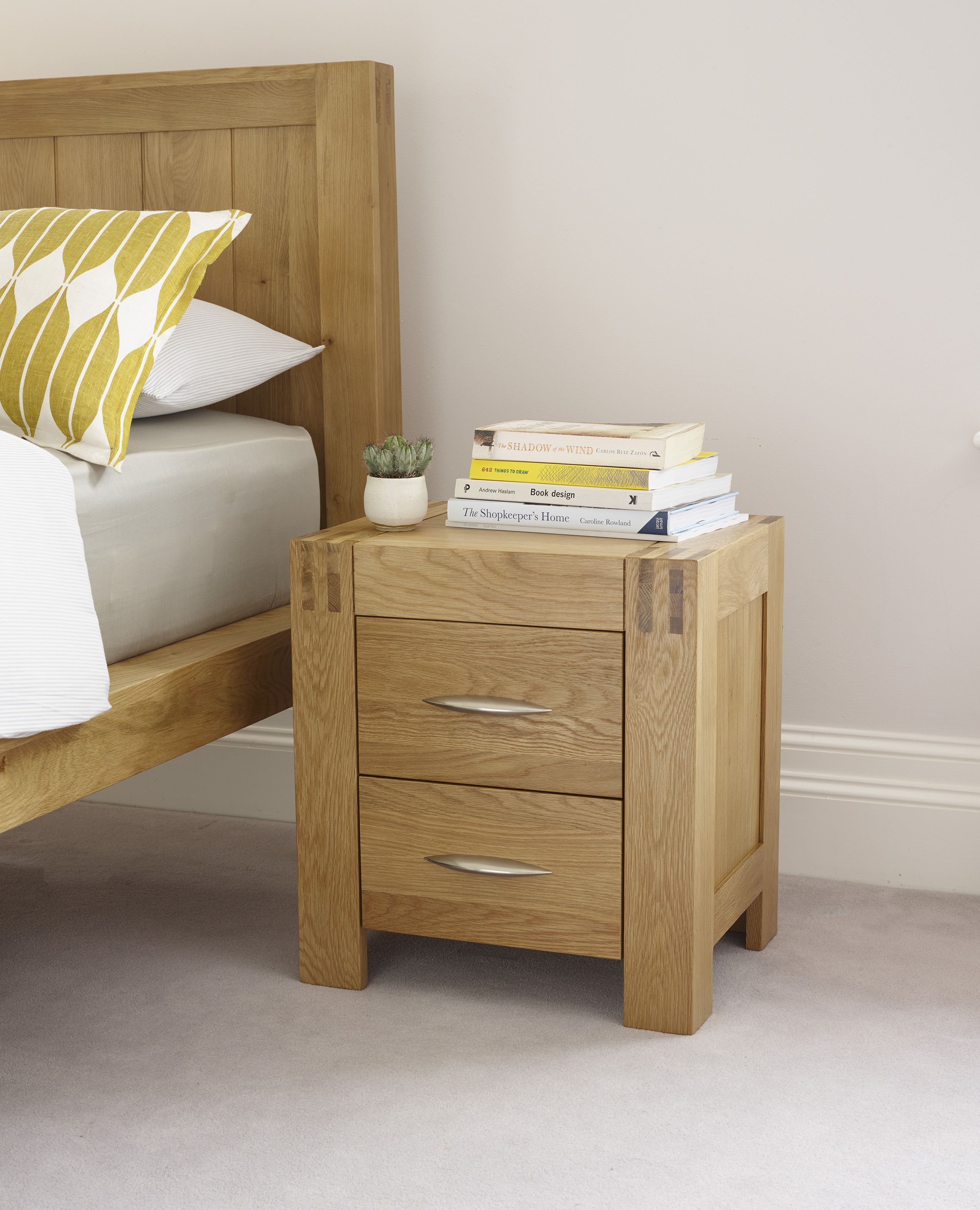 The Alto Solid Natural Oak Nightstand features finely waxed solid ...