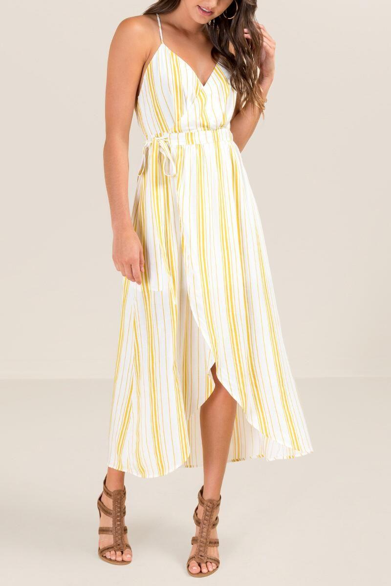 Lilah Striped Wrap Dress Dresses Nice Dresses Wrap Dress [ 1200 x 800 Pixel ]