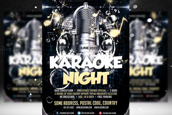 Karaoke Night Flyer Template  Flyer Template Karaoke And Template