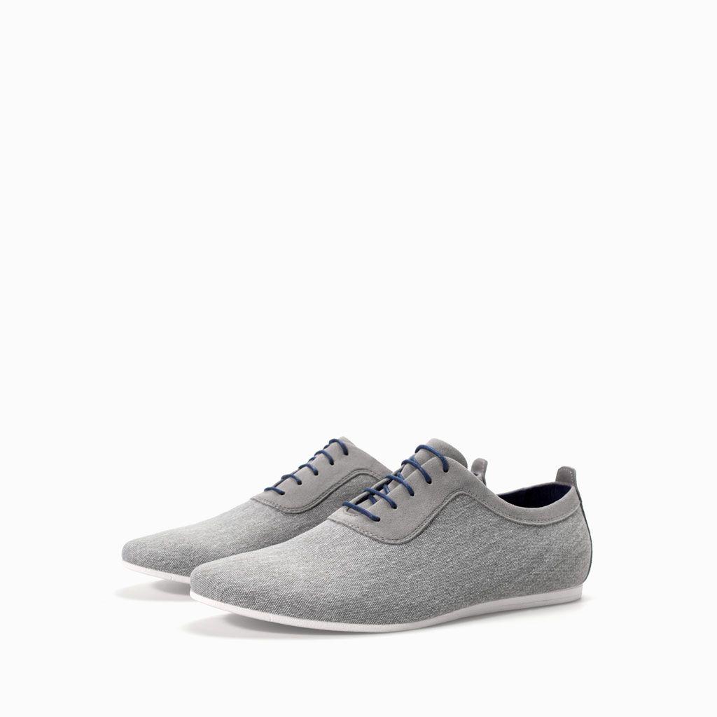 Canvas Sport Blucher Shoes Man Zara United States Coole Herrenschuhe Freizeitschuhe Mannerschuhe