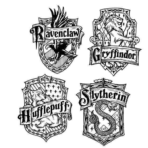 Digi Tizers Hogwarts House Crests Harry Potter Svg Studio V3 Jpg