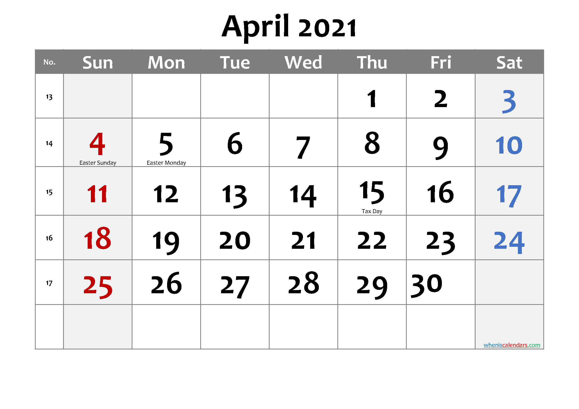Free Printable April 2021 Calendar In 2020 Calendar Printables Free Printable Calendar Printable Calendar July