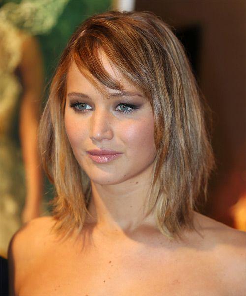 Jennifer Lawrence Medium Straight Casual Hairstyle Hair