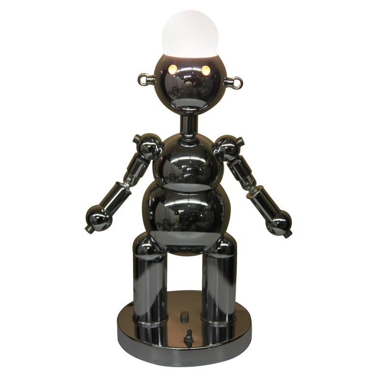 Torino Robot Lamp In 2020 Robot Lamp Lamp Chrome Lamp
