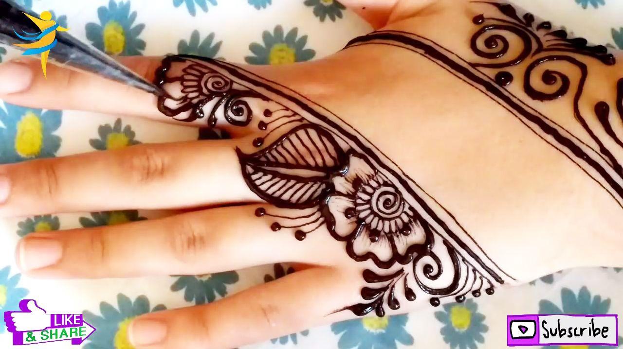 Simple Arabic Henna Mehndi Design 2020 رشمة عصرية و شبابية للمبتدئات نقش حناء سهل Mehndi Designs Simple Mehndi Designs Henna Hand Tattoo