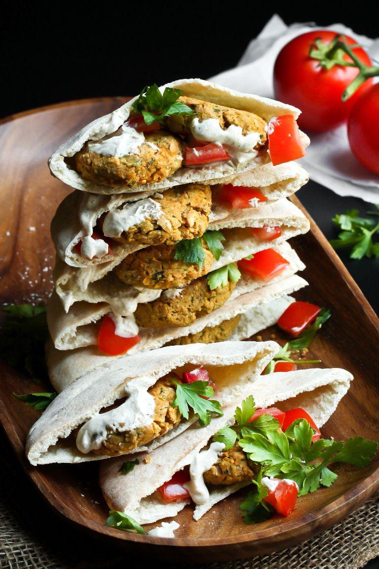 Easy vegan baked falafel oilfree recipe baked