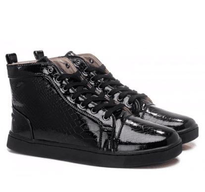 2443363aab5 Christian Louboutin Snake High Top Sneakers Black   louboutin  hightopshoes   black  manshoes
