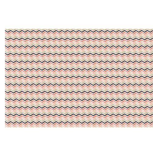 East Urban Home Halbglänzende Tapete Puder Chevron   Wayfair.de #pinkchevronwallpaper