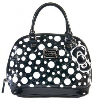 22a29c9be5b1 Amazon.com  Hello Kitty Limited Edition Patent Embossed Polka Dot Bag-SANTB0873   Shoes