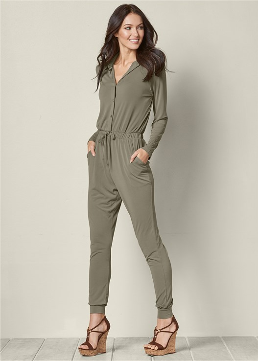 844e52f6db2 Venus Women s Pocket Detail Jumpsuit Jumpsuits   Rompers