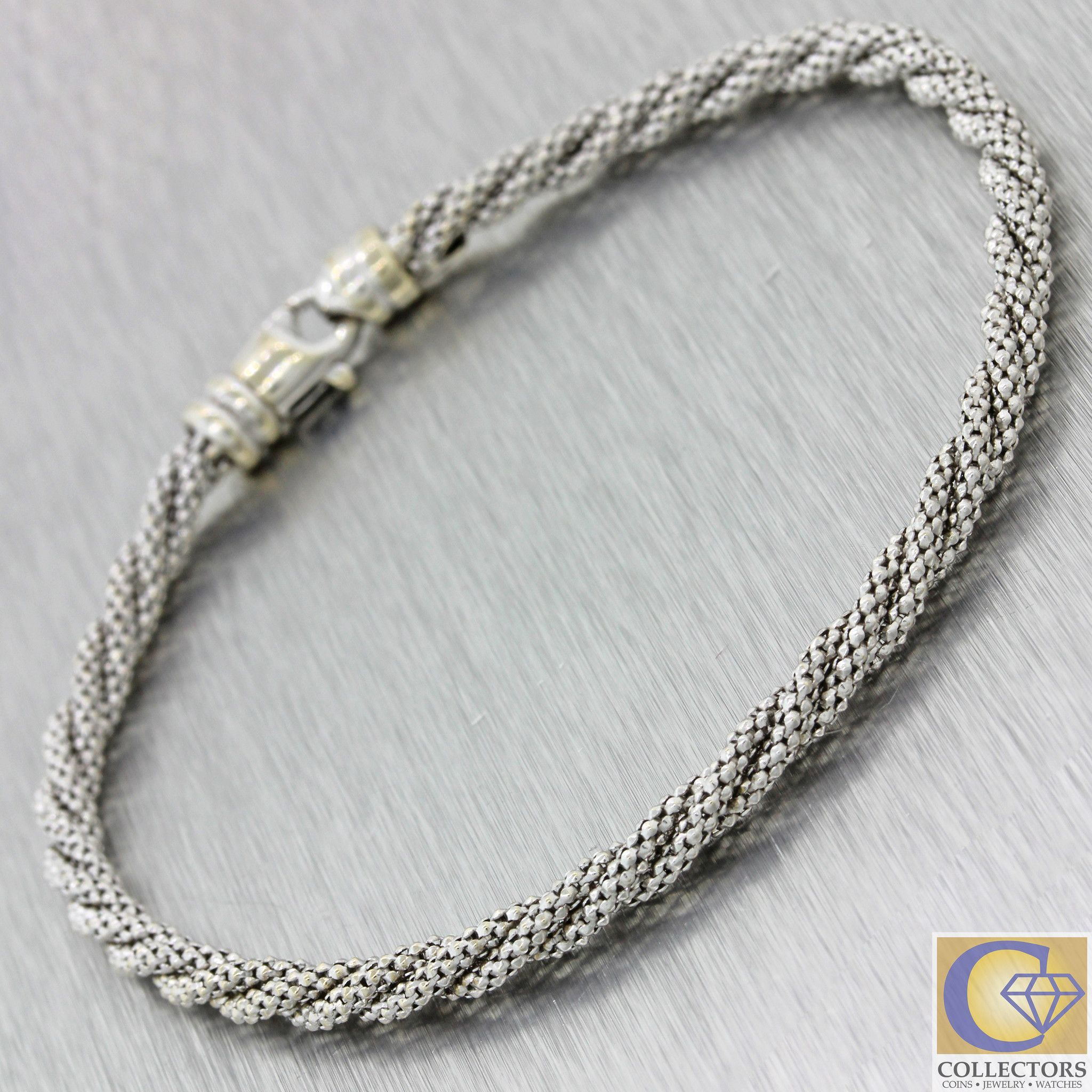 Modern k solid white gold mm rope link chain