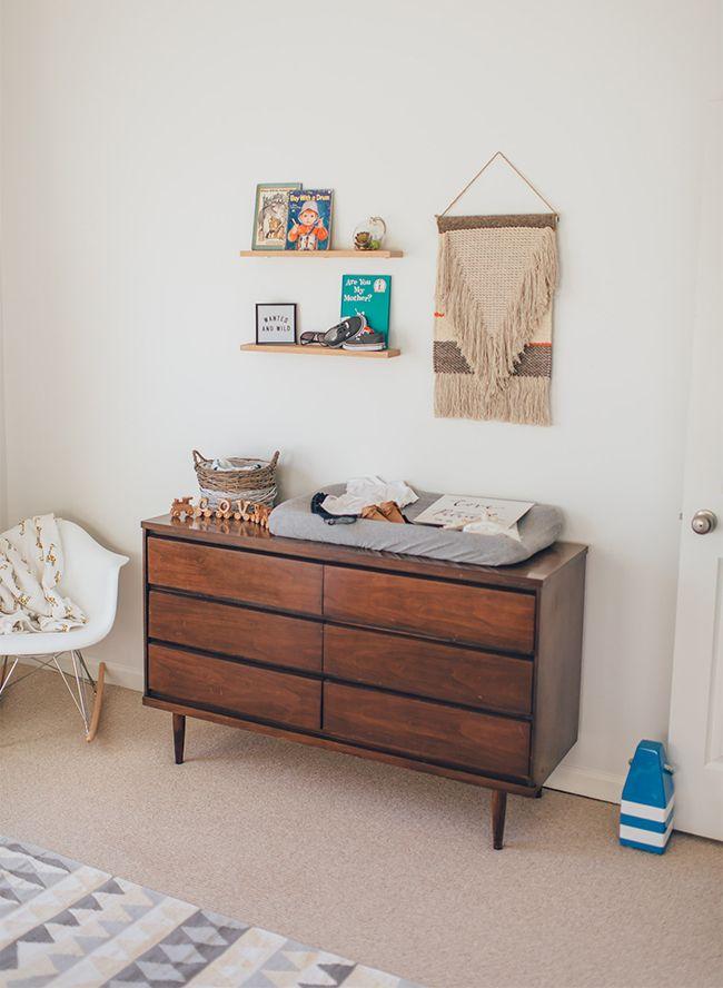 Orange and Indigo Modern Nursery - Inspired by This