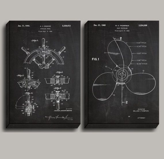 Canvas ships wheel patent ship propellor poster nautical art canvas ships wheel patent ship propellor poster nautical art nautical decor nautical wall art nautical blueprint vintage ship decor by malvernweather Images