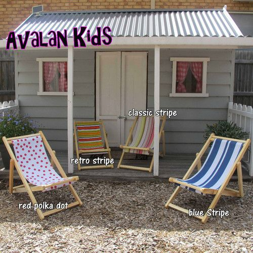 Toddlers Deck Chair Blue Stripe Childs Lounge Beach Chair