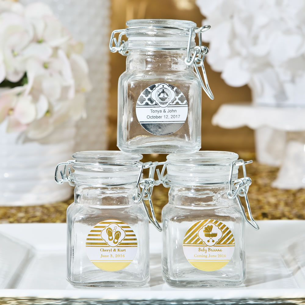 Apothecary Jars with hinged lid from our Personalized Metallics ...