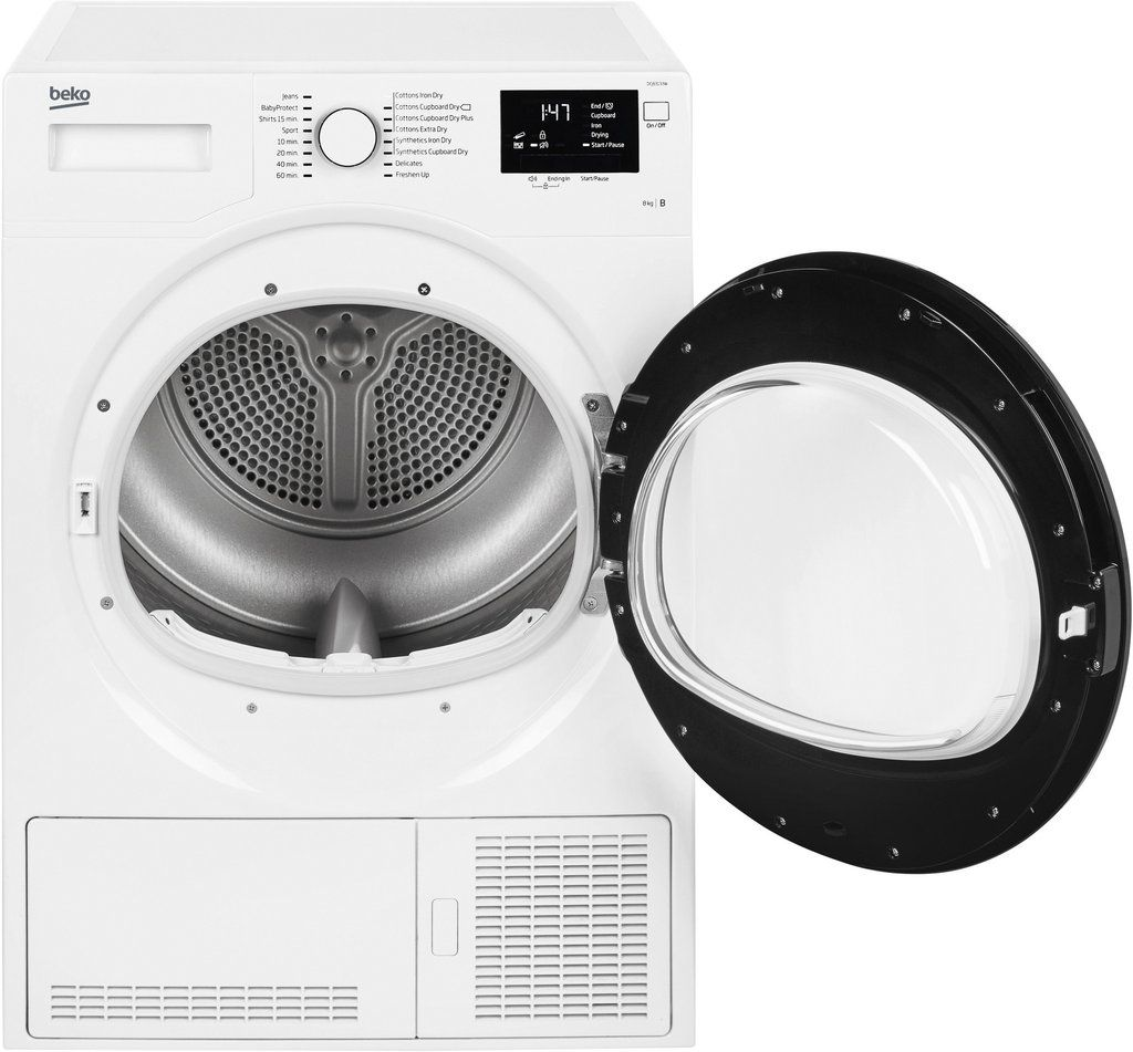 Beko 8kg Condenser Dryer Dcj83133w White Suszarka Lazienka