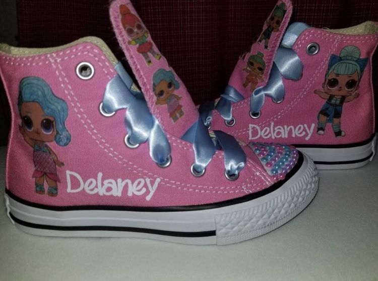 9a3e54fafc1 Lol surprise doll custom converse girls shoes with name