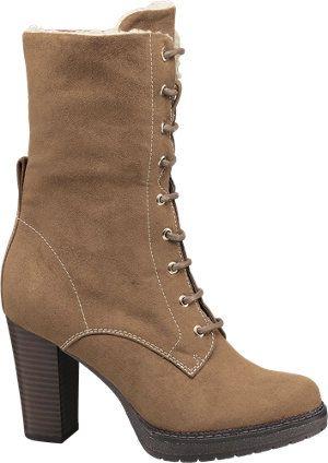 Graceland Ladies' Brown Lace up Ankle Boots   Deichmann