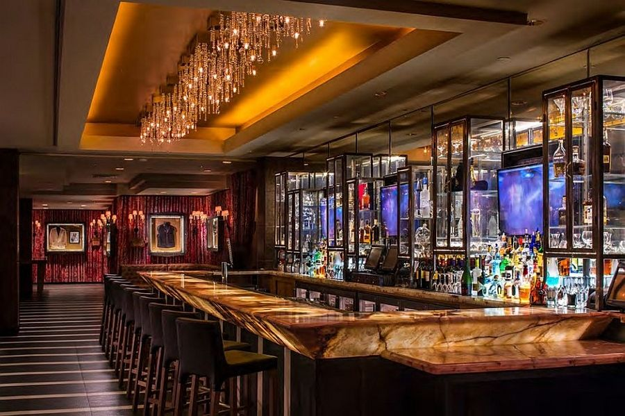 Bar Design Part - 48: Glamorous Bar Design That Complements The Hotel