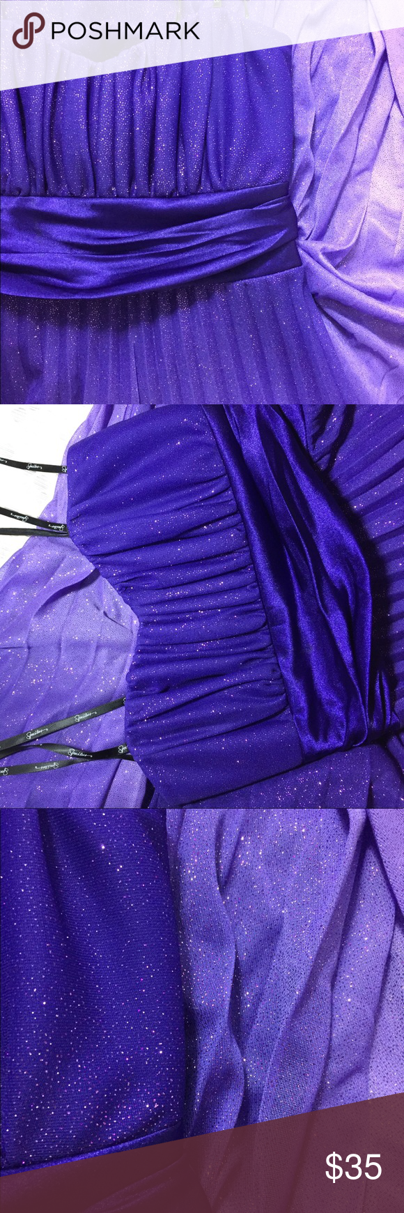 Specklers long ombre purple prom dress my posh picks pinterest