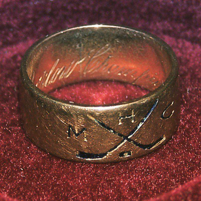 The First Stanley Cup Ring Ever Presented Given To The Montreal Aaa In 1893 See It Today At The Hhof Stanley Cup Rings Rings Hockey