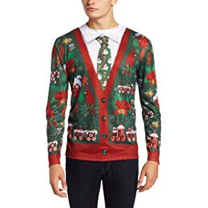 Faux Real Mens Ugly Cardigan With Tie Stuff To Buy Pinterest