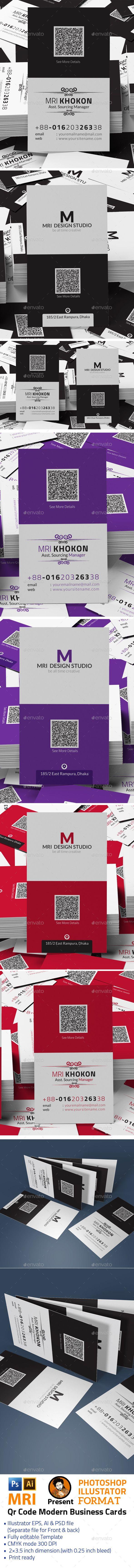 qr code modern business cards