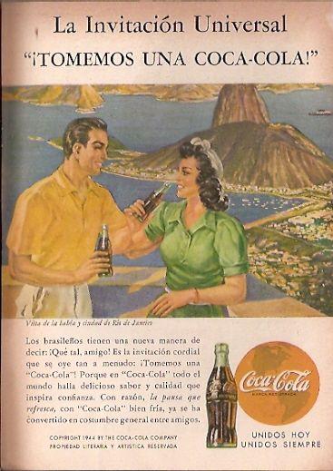 Coca Cola- Publicidad Gráfica Revista Selecciones 1944 - Brasil