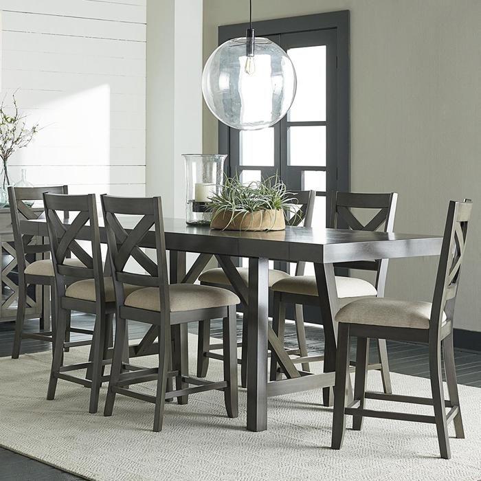 Omaha Grey 7Piece Counter Height Set  Nebraska Furniture Mart Enchanting Grey Dining Room Sets Design Decoration