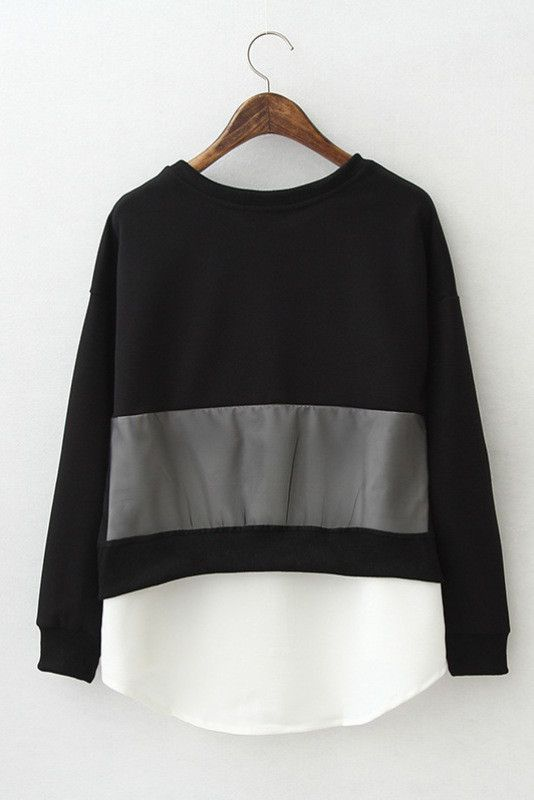 Keep It Casual Black and White Pullover #genuine-people #black #blouse