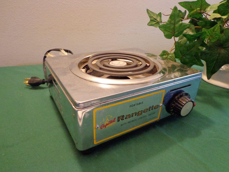 1960s Vintage Capitol Rangette One Burner Electric Hot